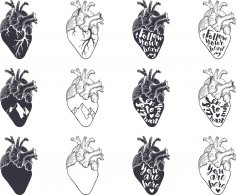 Heart Vector Set Free Vector
