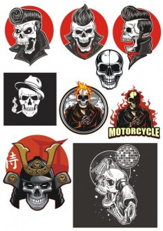 Vinyl Stickers Vinyl Skull Design Vectors CDR File