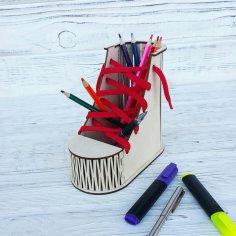 Boot Desk Organizer Pen Pencil Holder Free Vector