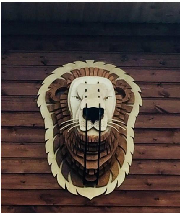 Wooden Trophy Lion CDR File
