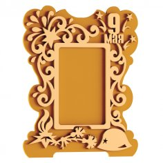 Mirror frame design DXF File
