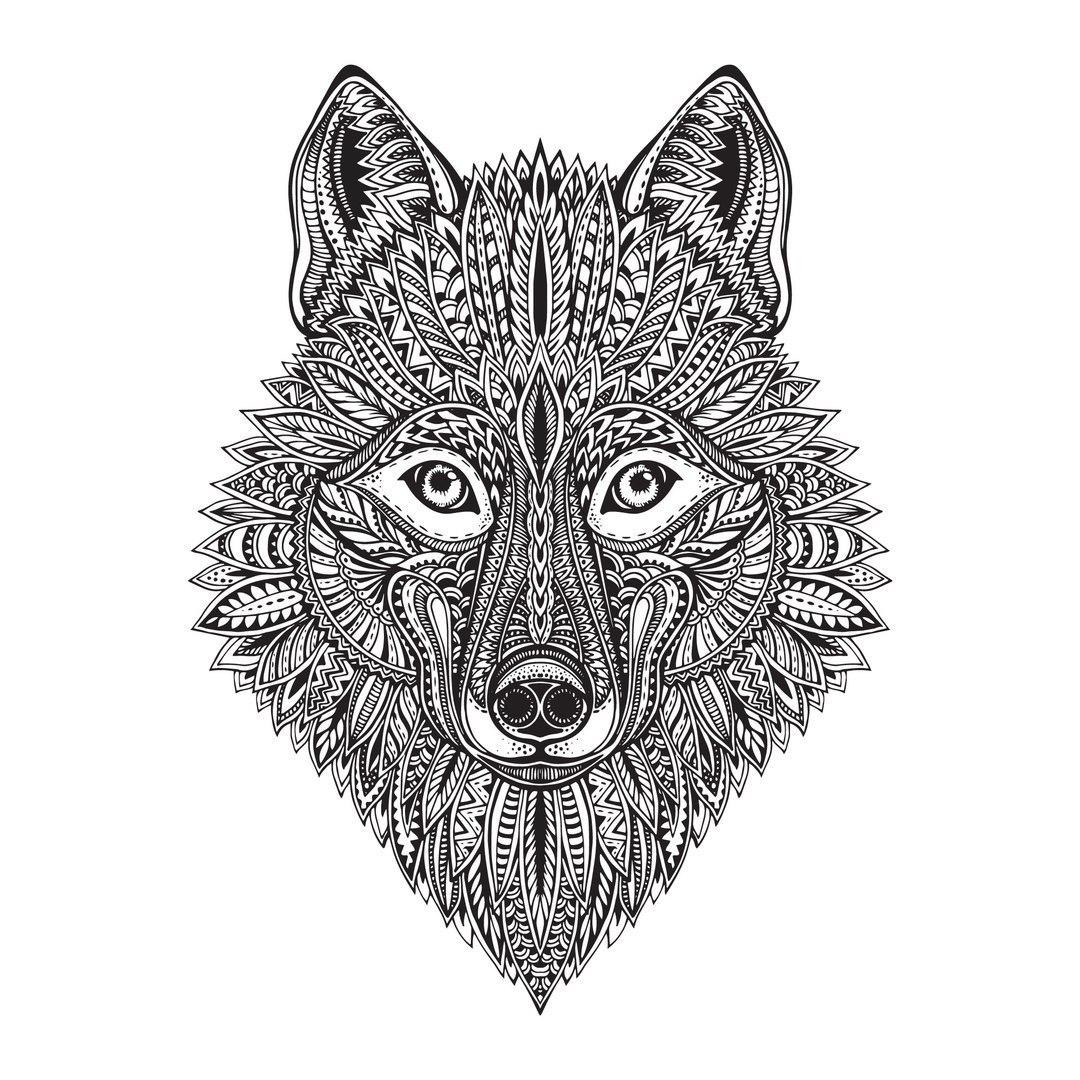 Wolf Face Vector Art Free Vector