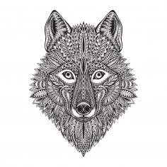 Wolf Face Vector Art Free Vector