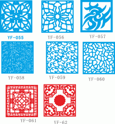 Vectors for decorative panels Free Vector