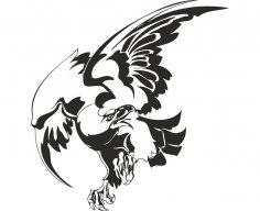 Bird Hawk Vulture Wall Sticker CDR File