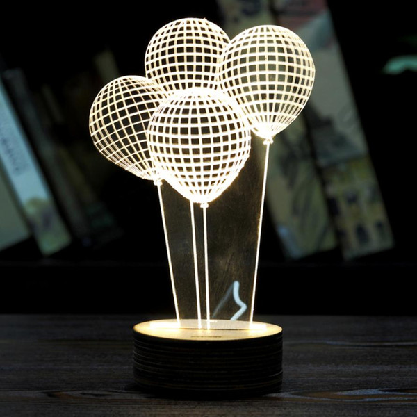 Balloon Shape 3D LED Night Light