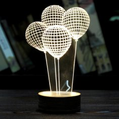 Balloon Shape 3D LED Night Light CDR File
