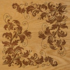 Floral Ornament Pattern DXF File