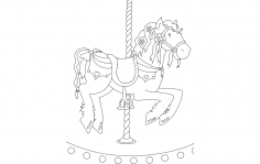 Horse Carousel dxf File