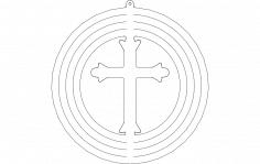 spinner-cross dxf File