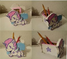 Unicorn Desk Organizer DXF File