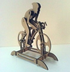 Professional Cyclist Laser Cut PDF File