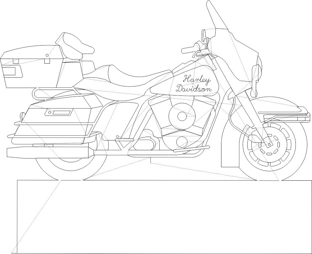 Harleydavidson Profile DXF File
