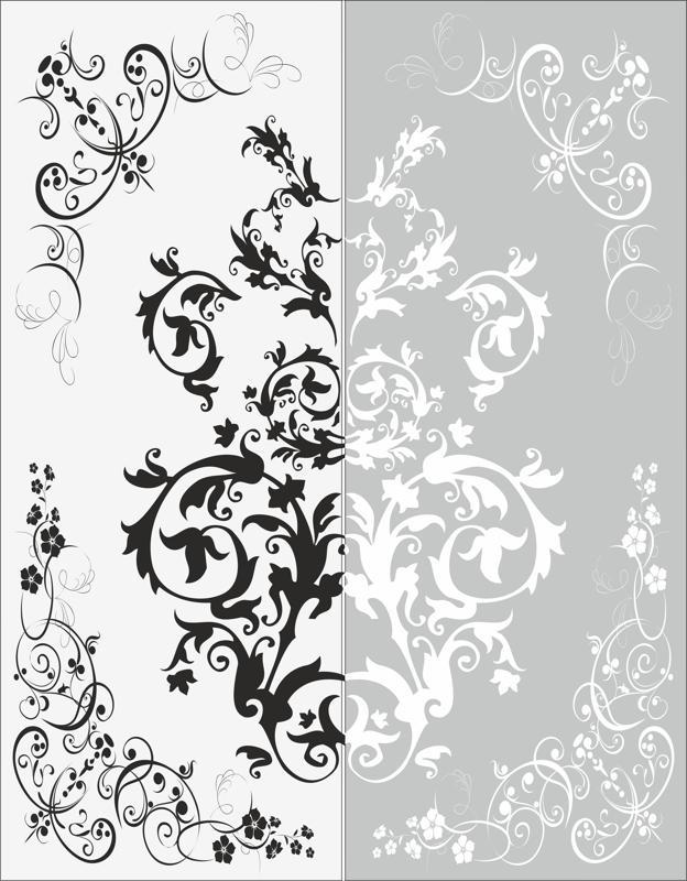 Decor Flower Sandblast Pattern