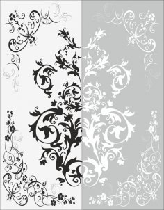 Decor Flower Sandblast Pattern Free Vector