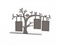 Tree Frame Laser Cut Free Vector