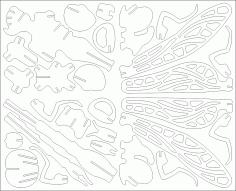 Drachenfliege Puzzle 2mm DXF File
