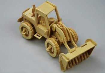 Laser Cut Front End Loader Toy PDF File