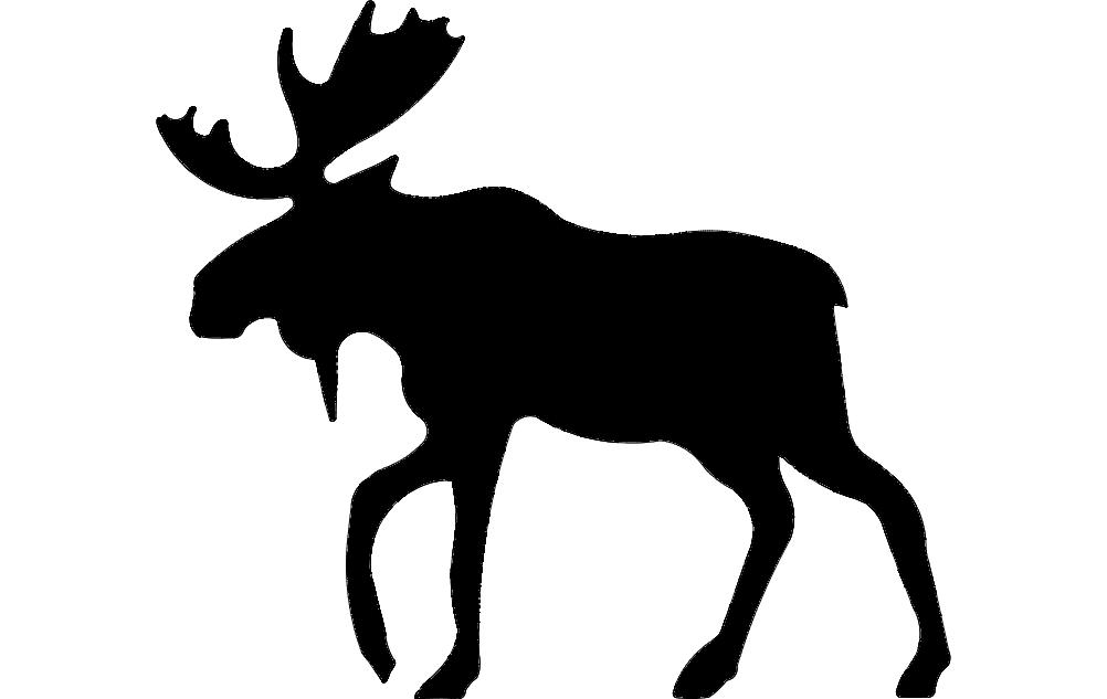 Alce (Moose) 4 dxf File
