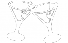 Martini Drink dxf File