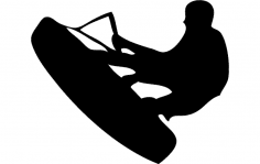 Wake Wakeboarding Silhouette dxf File