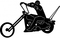 Chopper (motorcycle) dxf File