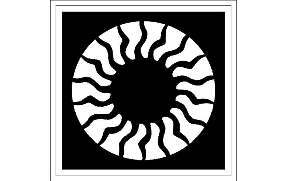 Rosette dxf File