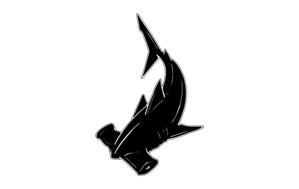Hammerhead Fish dxf File