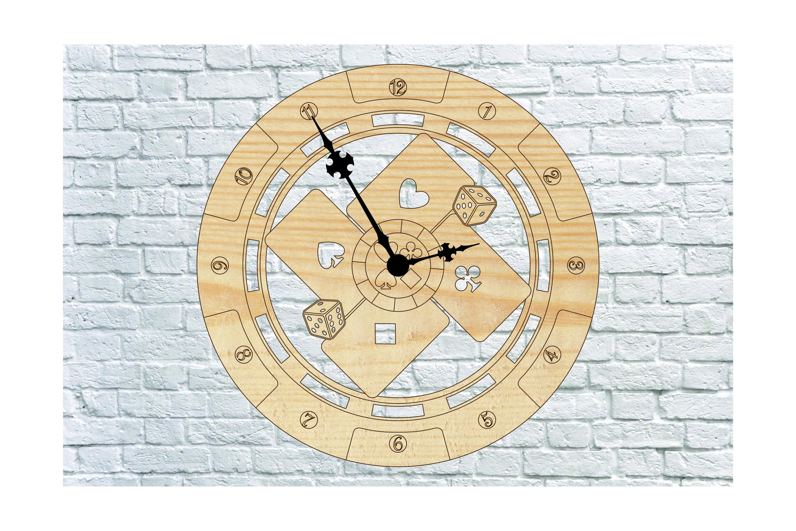 Poker Wall Clock Free Vector