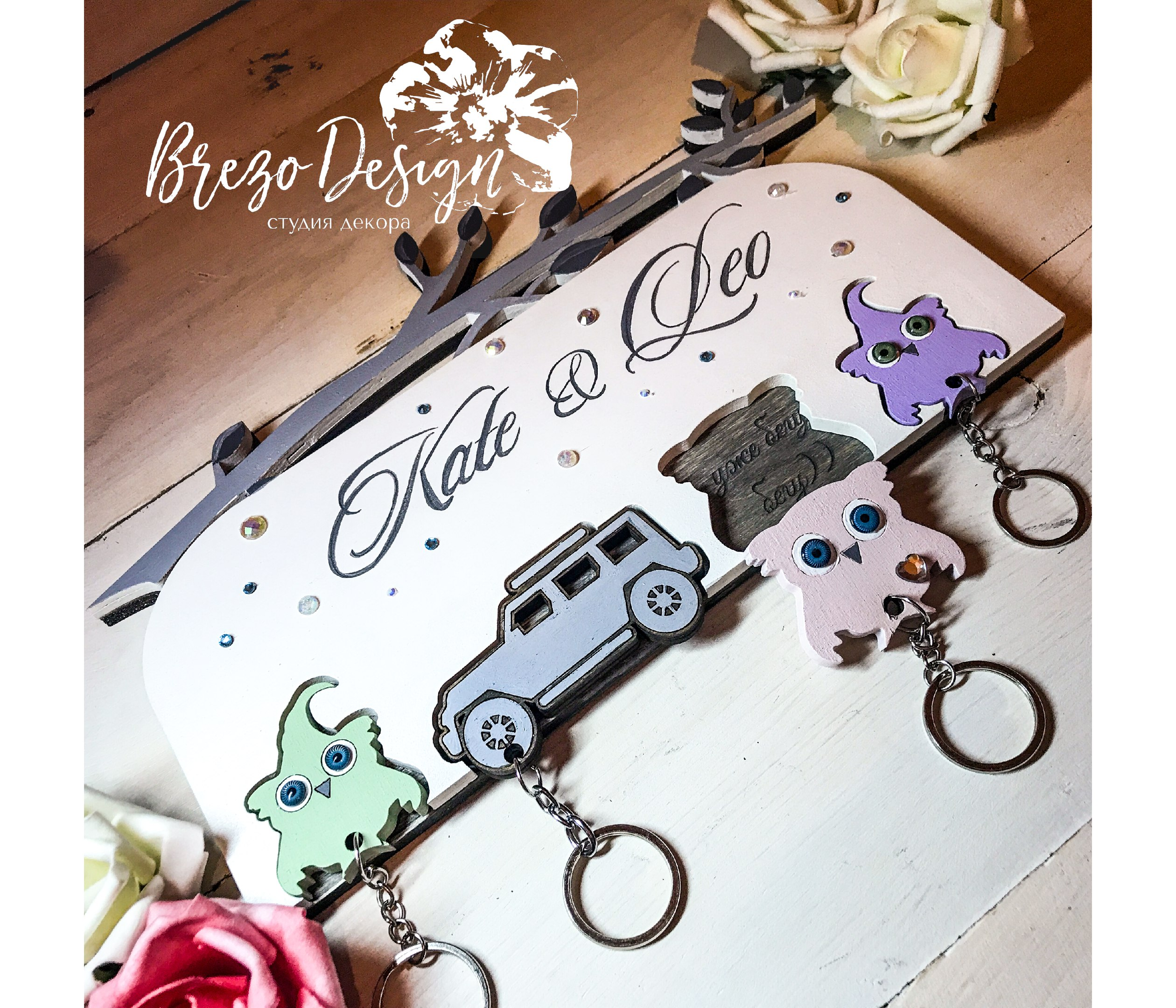 Personalized Key Holder Free Vector