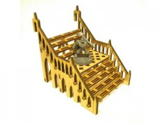 Stairs 8x12x8 3mm DXF File