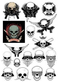 Gangster Skull Free Vector