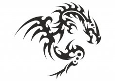 Dragon Silhouette Vector CDR File