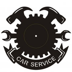 Clock Car Service dxf File