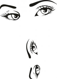Woman Eyes Collection Vector Free Vector