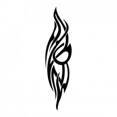 Scroll Tattoo Tribal Vector Design jpg Image