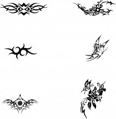 Black and white Tattoo Totem Vector Free Vector
