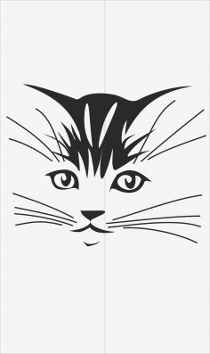 Cats Decal for Glass Vector Free Vector