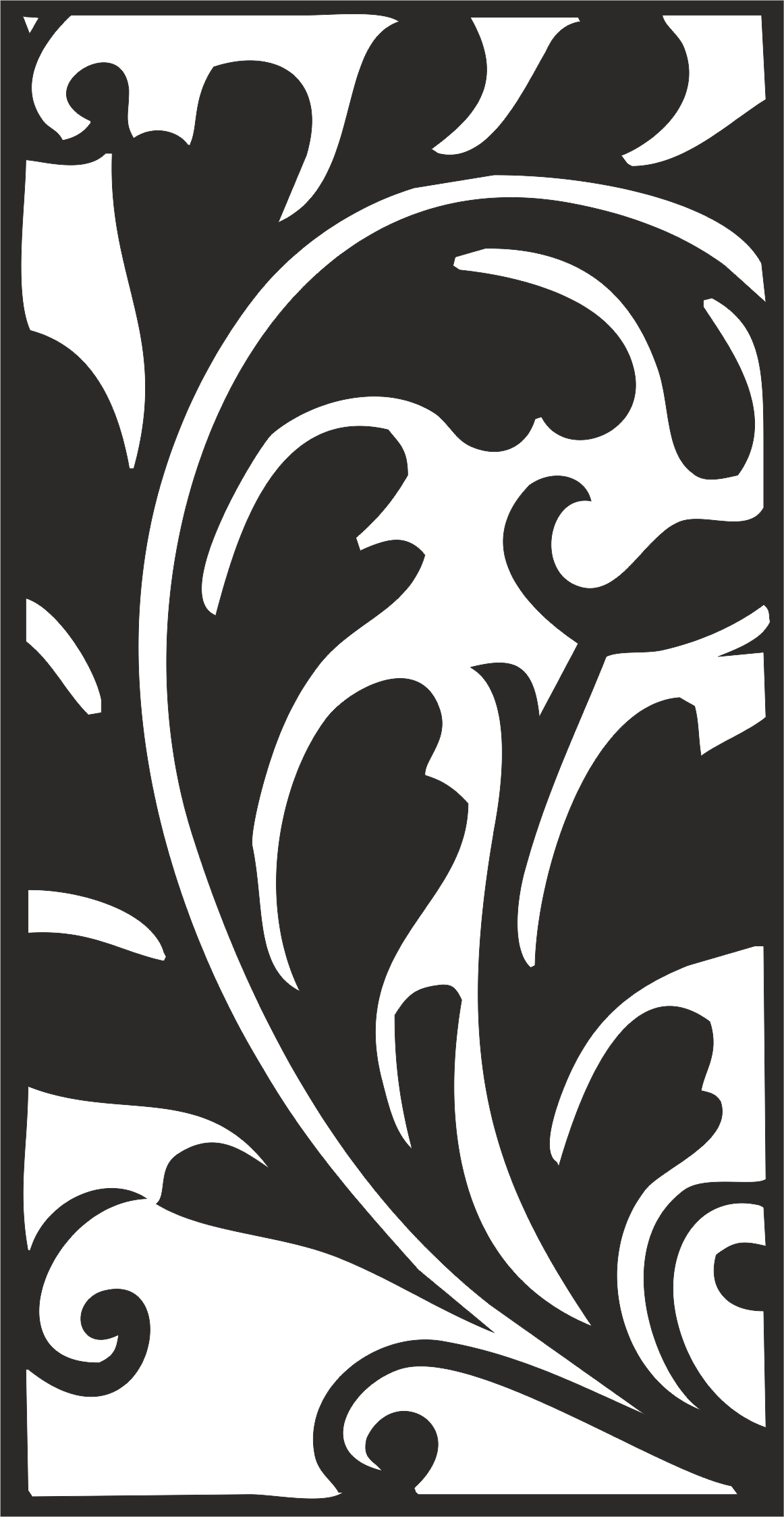 Classical Traditional Floral Pattern Vector Free Vector