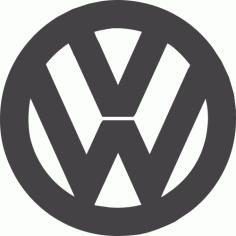 Volkswagen Logo DXF File