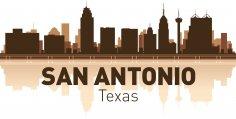 San Antonio Skyline Free Vector