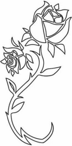 Rose Flower Abstract Design dxf File