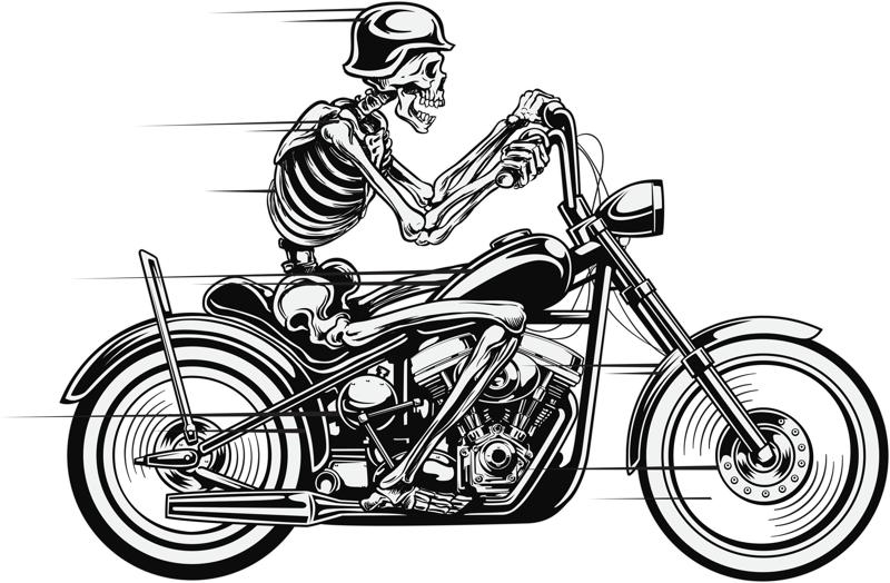 Vector Skull Motorcycle Free Vector Cdr Download 3axis Co