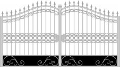 Iron Fancy Gate Boundary Wall Gate Design Free Vector