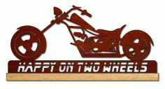 Chopper Motorcycle Scroll Saw Pattern PDF File