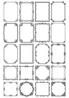 Decorative Page Border Vectors