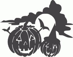 Halloween holiday jackolantern DXF File