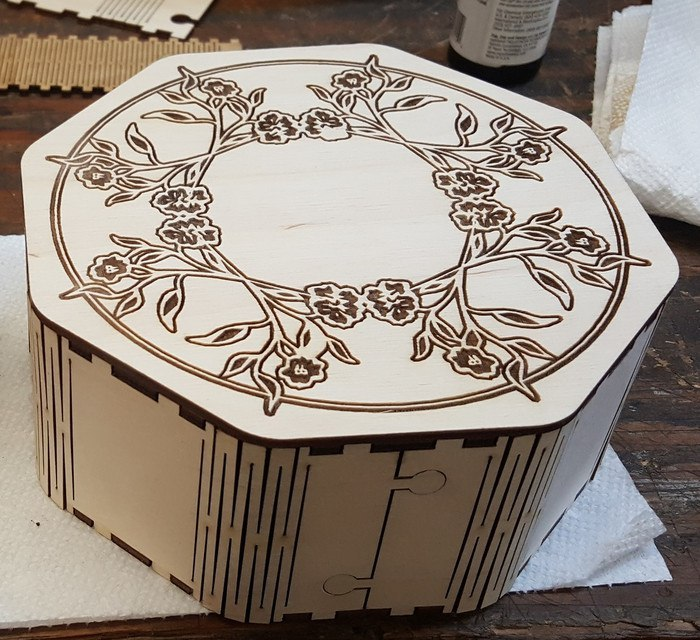 Octagon Box Laser Cutting Plans PDF File