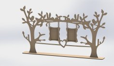 Laser Cut Tree Frame Free Vector