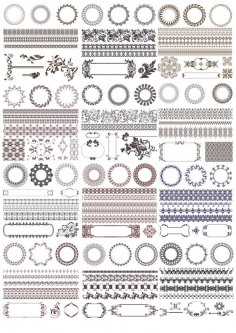 Decor Elements Set Free Vector